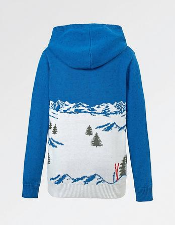 Festive Scene Hooded Jumper
