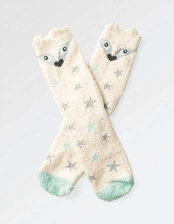 Fluffy Arctic Fox Socks