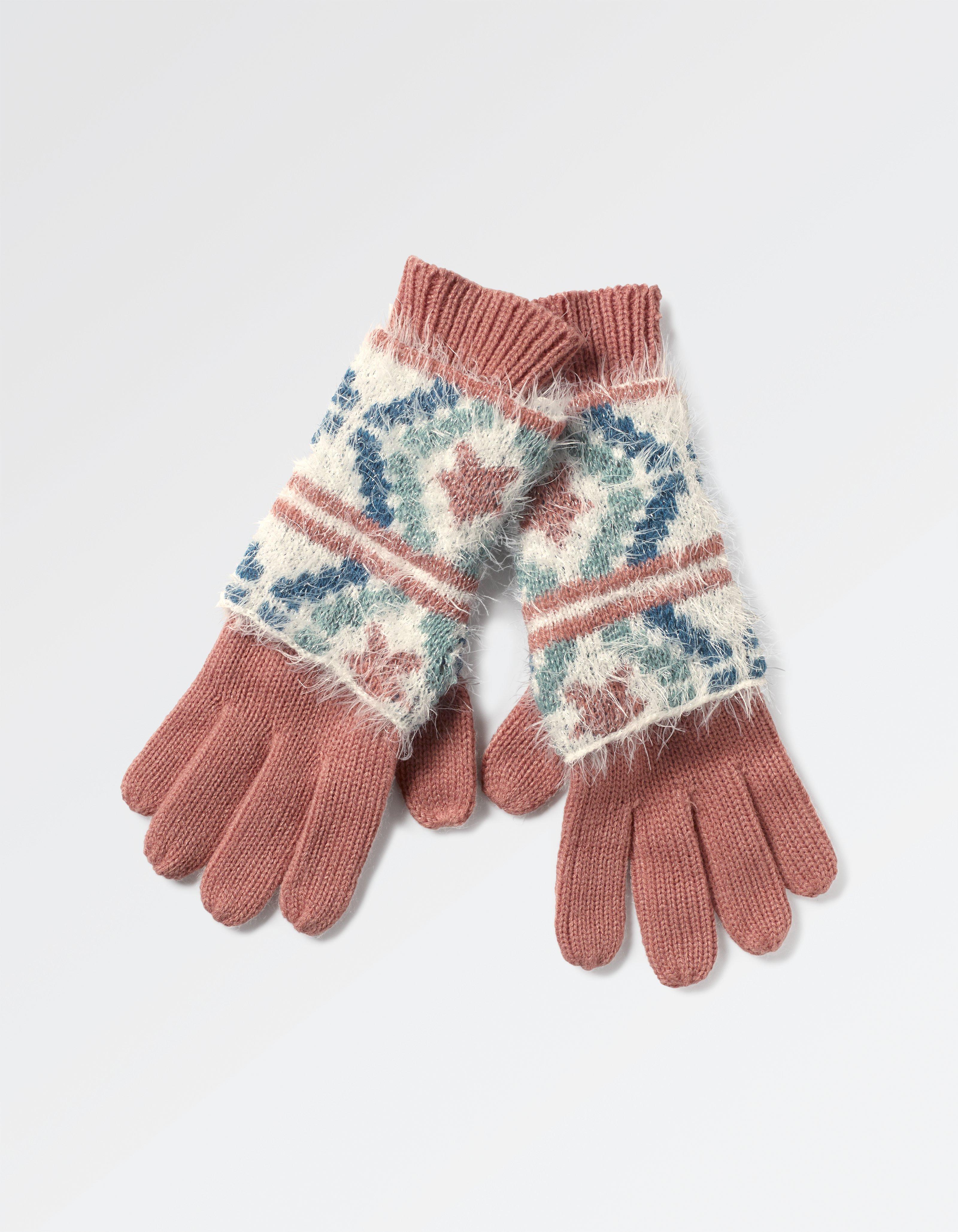Sophia Fluffy 2 In 1 Gloves