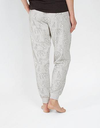 Glacier Polar Bear Cuffed Lounge Pants
