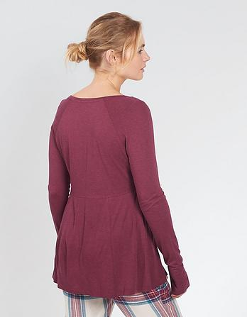 Seamed Jersey Top