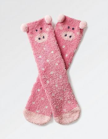 Fluffy Piggie Sock