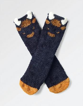 Fluffy Bison Socks