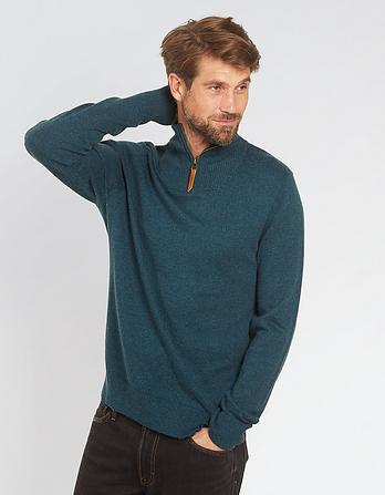 Cotton Cashmere Half Neck Sweater
