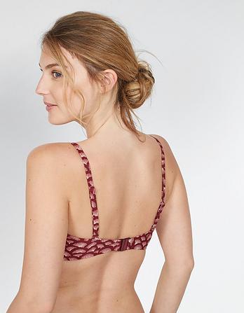 Abstract Shell Carly Bikini Top