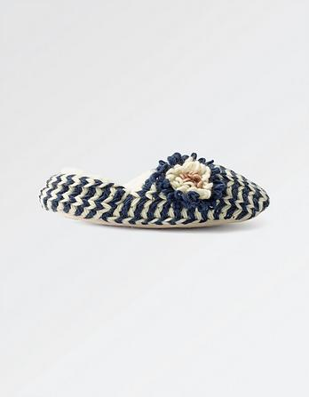 Edith Stripe Slippers