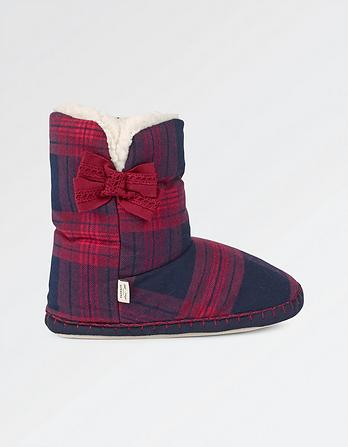 Layla Check Slipper Boots