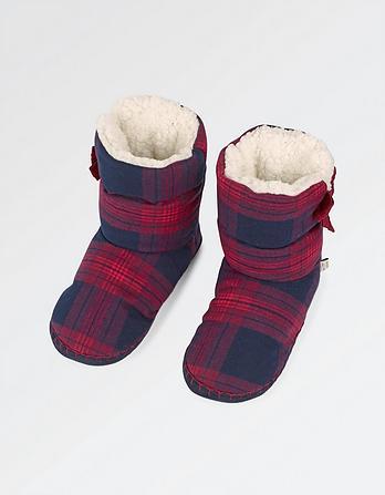 Layla Check Slipper Boots