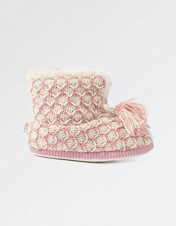Charlotte Knitted Slipper Boots