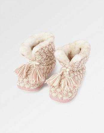 Charlotte Knitted Slipper Boots