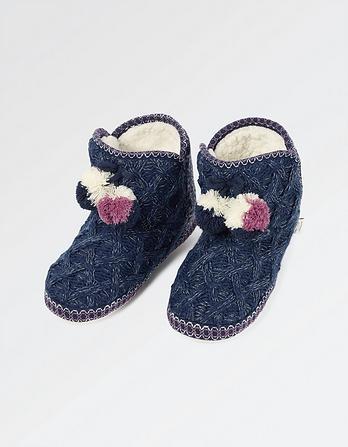 Frankie Fairisle Slipper Boots
