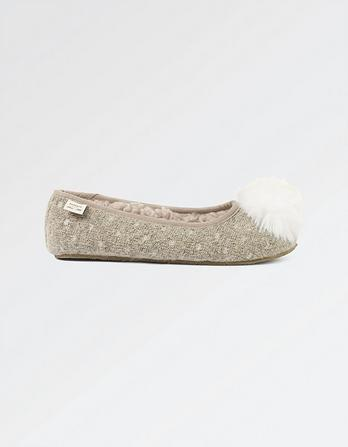 Olivia Knit Ballerina Slippers