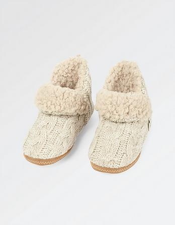 Olivia Patchwork Slipper Boots
