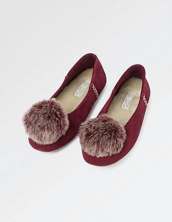 Suzie Suede Ballerina Slippers