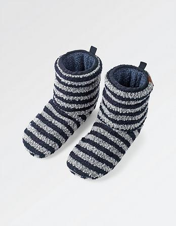 Logan Stripe Slipper Boots