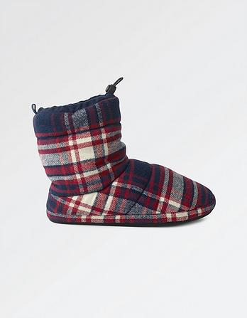 Josh Check Toggle Slipper Boots