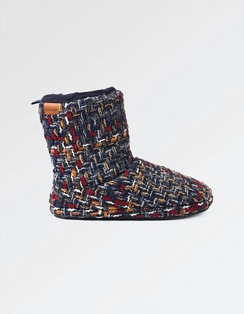 Logan Textured Knit Slipper Boots
