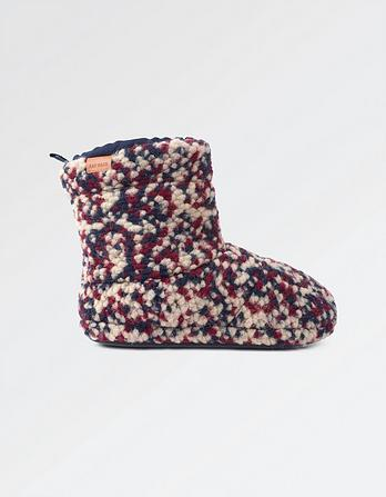 Logan Bobble Knit Slipper Boots