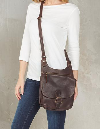 Hannah Oiled Leather Cross Body Bag