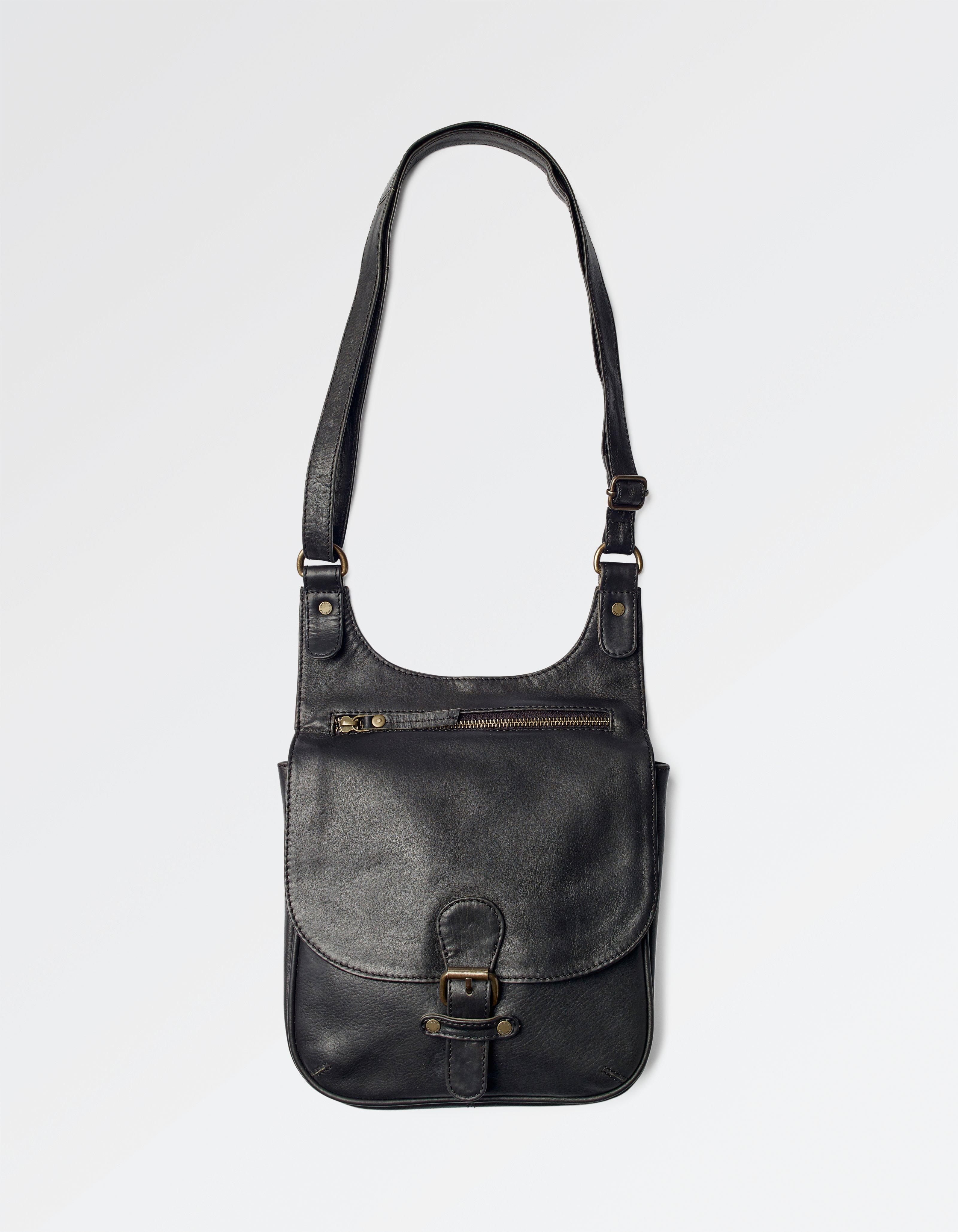 Hannah Oiled Leather Cross Body Bag
