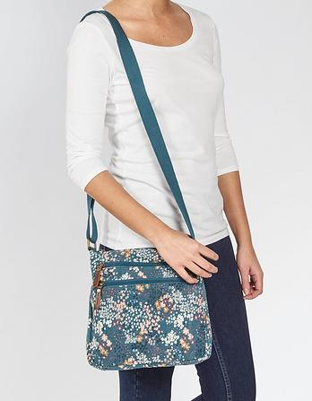 Ditzy Floral Canvas Cross Body Bag