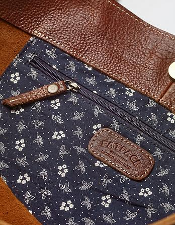 Large Tassel Leather Tote Bag