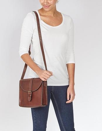 Betsy Buckle Leather Cross Body Bag