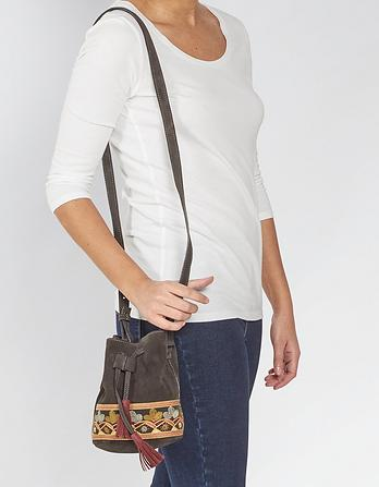 Mini Embroidered Bucket Bag