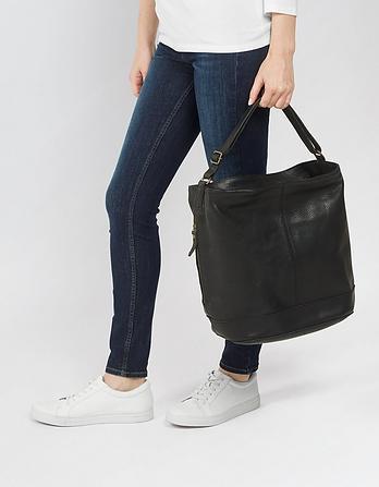 Seren Leather Slouchy Shoulder Bag