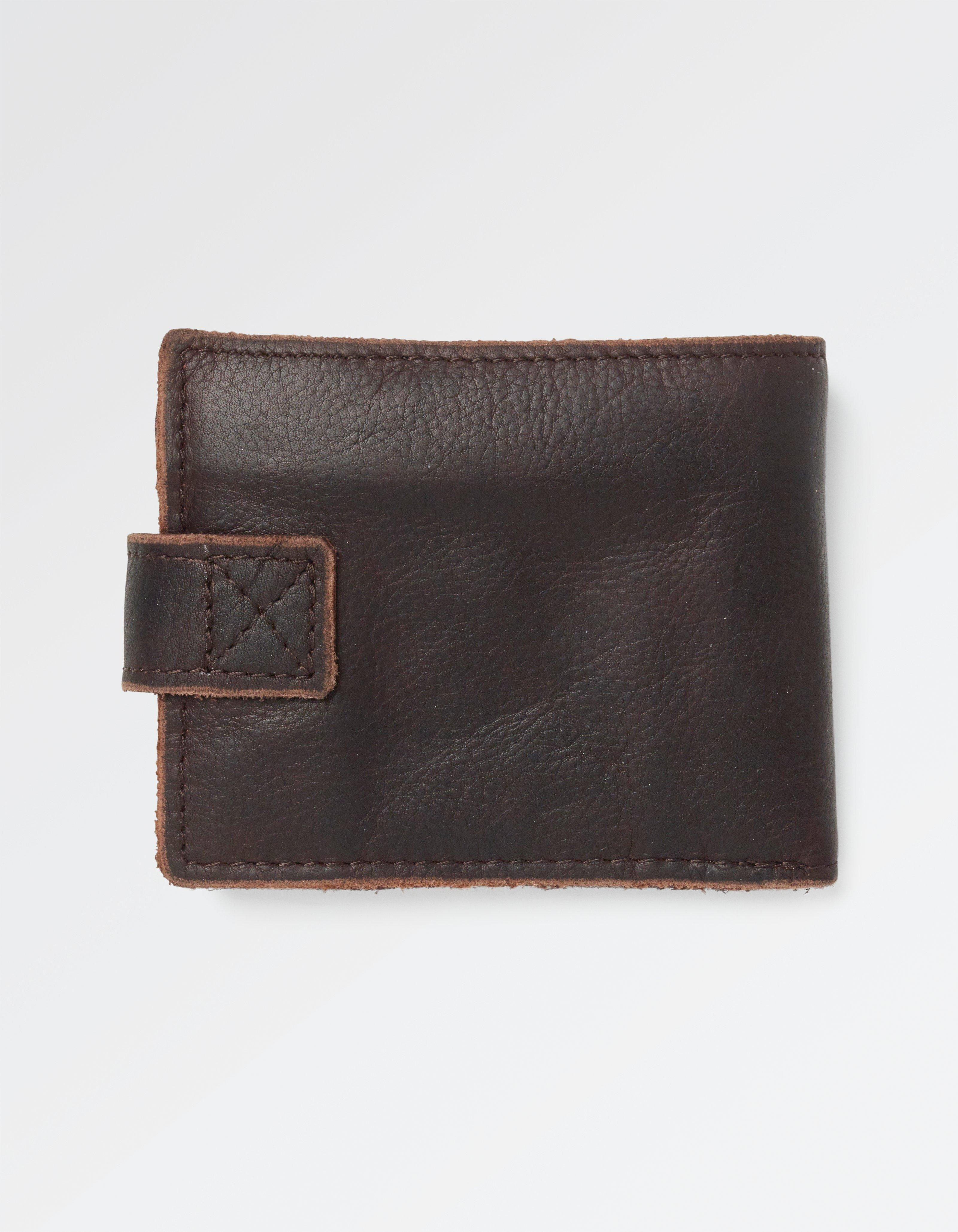 Raw Edge Leather Wallet