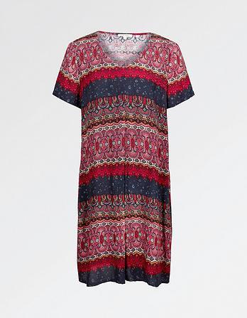 Clara Folklore Stripe Dress