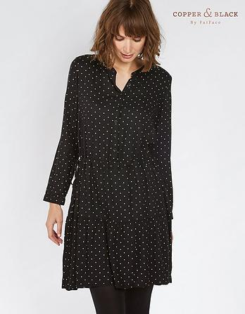 Carolie Mono Polka Dot Dress