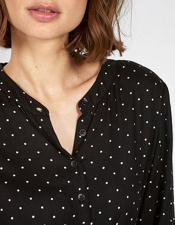 Carolie Mono Polka Dot Dress