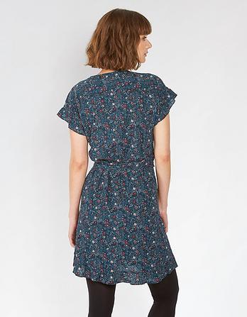 Martha Evergreen Wrap Dress