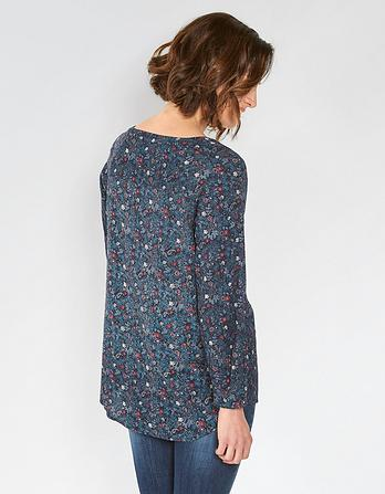 Maggie Evergreen Longline Top