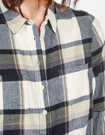Ottilie Check Longline Shirt
