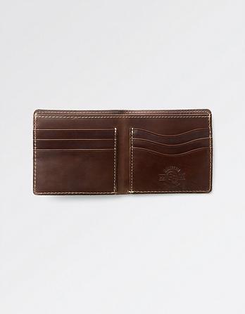 Stitch Detail Leather Wallet