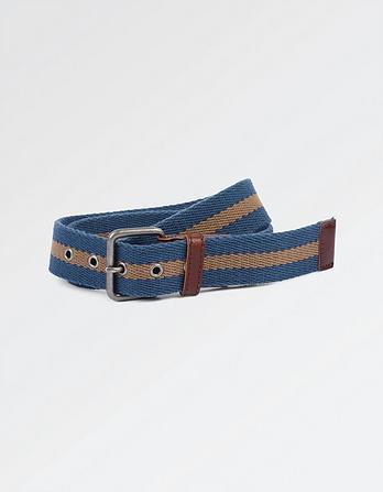 Harry Block Stripe Webbing Belt