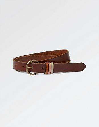 Three Keeper Leather Belt