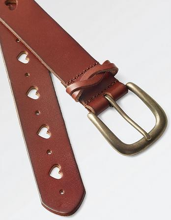 Ella Heart Cut Out Leather Belt