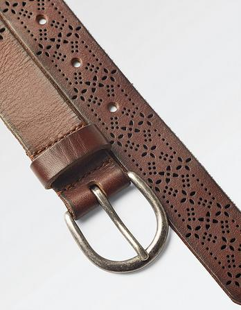 Grace Laser Cut Out Leather Belt