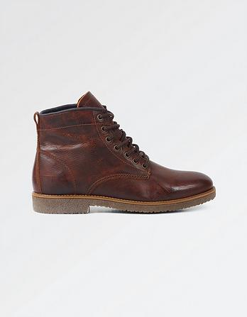 Finley Leather Lace Up Boots