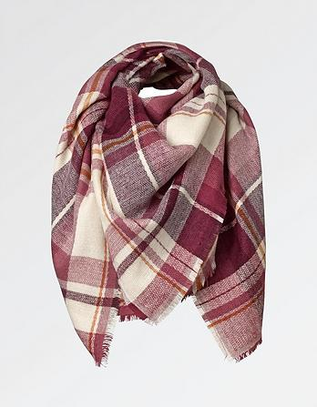 Bella Check Midweight Scarf