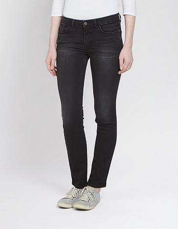 Washed Black Everyday Straight Jeans