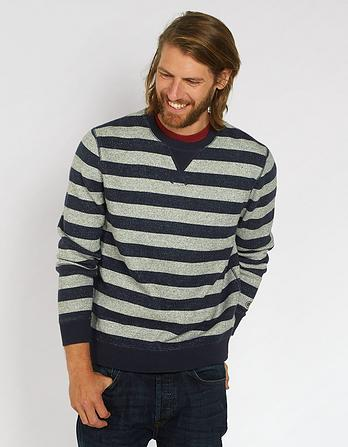 Seaton Stripe Crew Neck Sweat