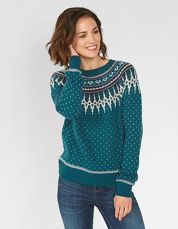 Farah Fairisle Christmas Jumper