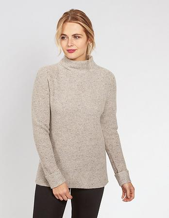Emily Funnel Neck Cashmere Jumper
