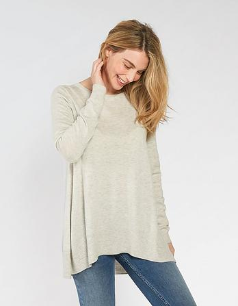 Abbey Pleat Swing Jumper