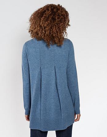 Abbey Pleat Swing Sweater