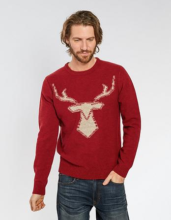 Stag Outline Christmas Jumper